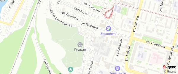 Татарская улица на карте Уфы с номерами домов