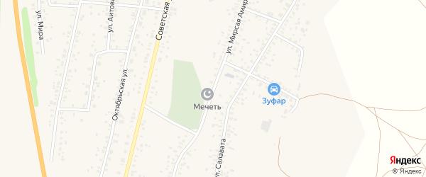 Улица Мирсая Амира на карте села Зиргана с номерами домов