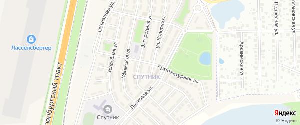 Архитектурная улица на карте села Чесноковки с номерами домов