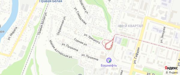 Улица Урицкого на карте Уфы с номерами домов