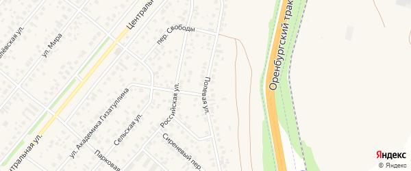 Полевая улица на карте села Зубово с номерами домов
