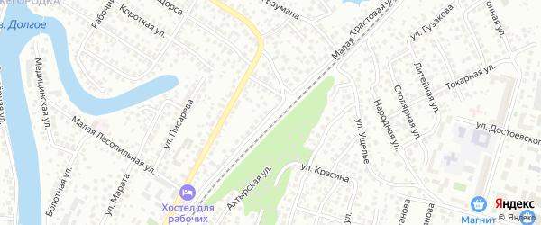 Малая Трактовая улица на карте Уфы с номерами домов