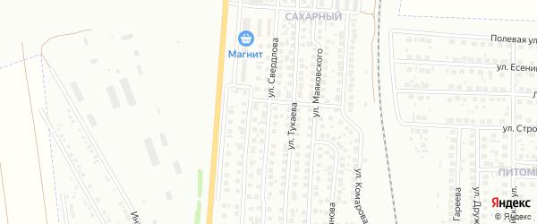 Улица Свердлова на карте Мелеуза с номерами домов