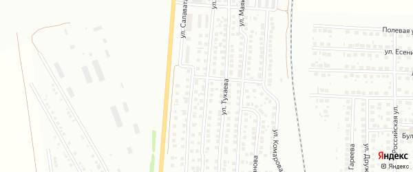 Улица Свердлова на карте деревни Сарлака с номерами домов