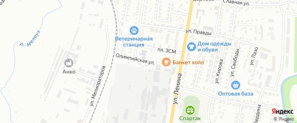 Площадь ЗСМ на карте Мелеуза с номерами домов