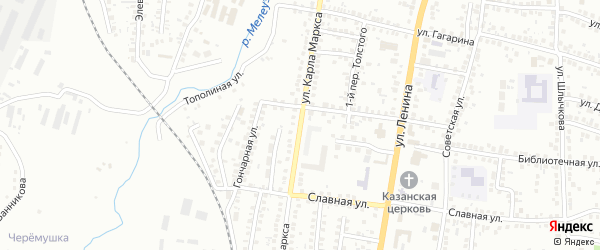 Улица К.Маркса на карте Мелеуза с номерами домов
