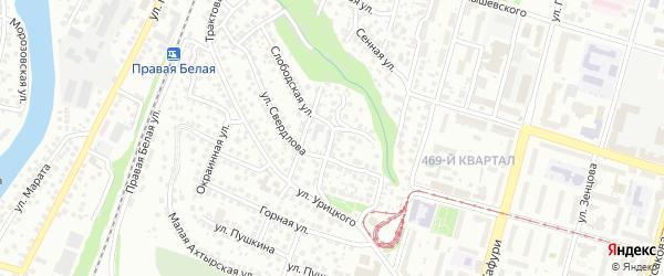 Гаражная улица на карте Уфы с номерами домов