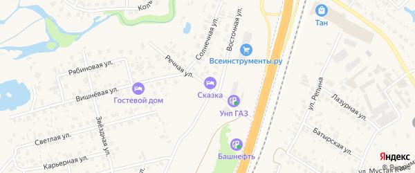 Речная улица на карте села Зубово с номерами домов