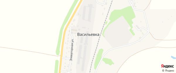 Нефтяной переулок на карте села Васильевки с номерами домов