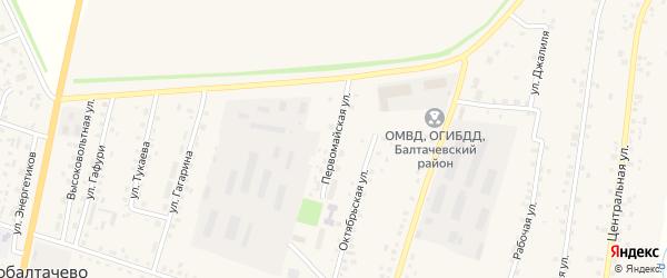 Первомайская улица на карте села Старобалтачево с номерами домов
