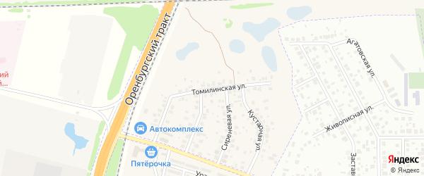 Томилинская улица на карте села Чесноковки с номерами домов