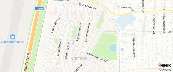 Улица Коперника на карте села Чесноковки с номерами домов