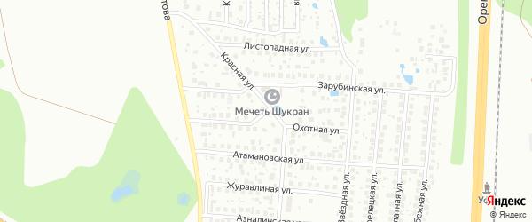 Охотная улица на карте Уфы с номерами домов