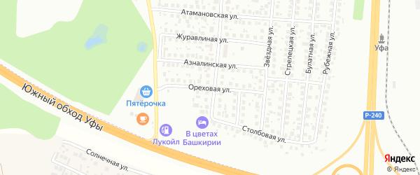 Ореховая улица на карте Уфы с номерами домов