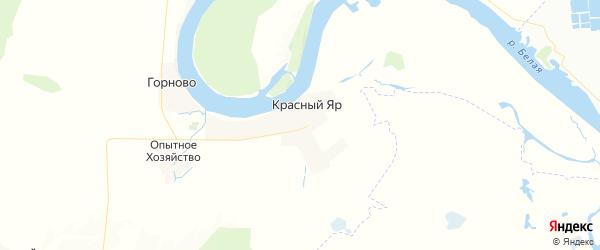 Карта Красноярского сельсовета республики Башкортостан с районами, улицами и номерами домов