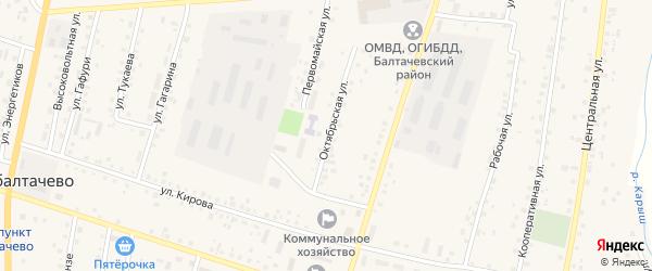 Октябрьская улица на карте села Старобалтачево с номерами домов