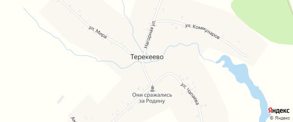 Амбарный переулок на карте деревни Терекеево с номерами домов
