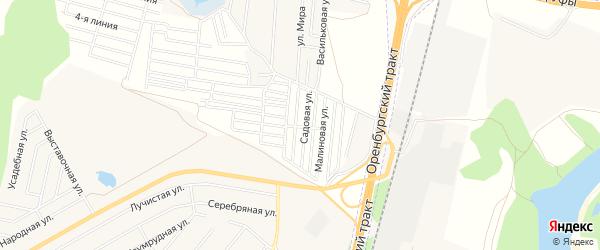 СНТ Солнечная поляна на карте Уфимского района с номерами домов