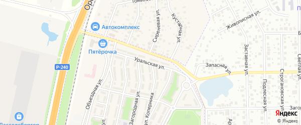 Уральская улица на карте села Чесноковки с номерами домов