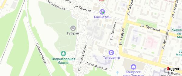 Улица Малая Бакунина на карте Уфы с номерами домов