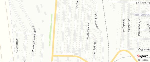 Улица Тукаева на карте Мелеуза с номерами домов