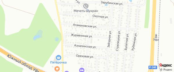 Журавлиная улица на карте хутора свх Цветы Башкирии с номерами домов