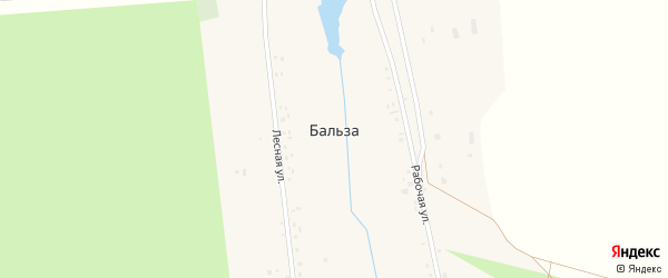 Северная улица на карте деревни Бальзы с номерами домов