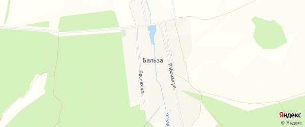 Карта деревни Бальзы в Башкортостане с улицами и номерами домов