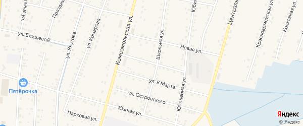 Молодежная улица на карте села Старобалтачево с номерами домов
