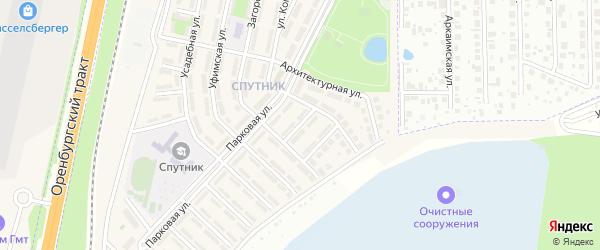 Рябиновая улица на карте села Чесноковки с номерами домов