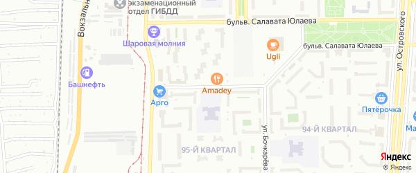 Улица Губайдуллина на карте Салавата с номерами домов
