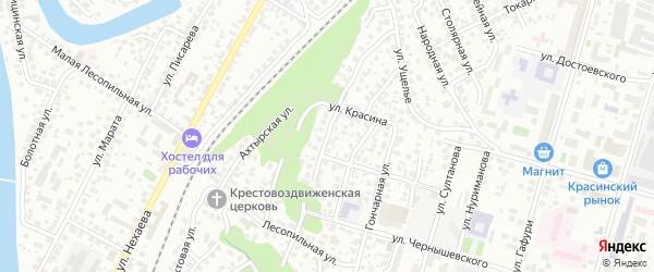 Улица Леваневского на карте Уфы с номерами домов