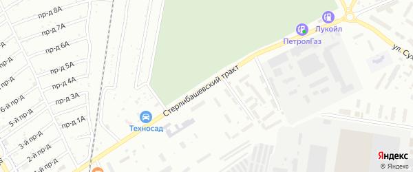 Стерлибашевский тракт на карте Стерлитамака с номерами домов