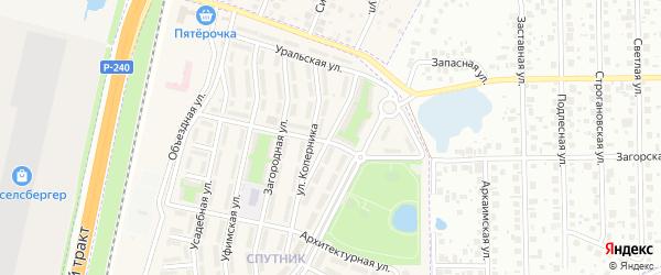 Улица Гагарина на карте села Чесноковки с номерами домов