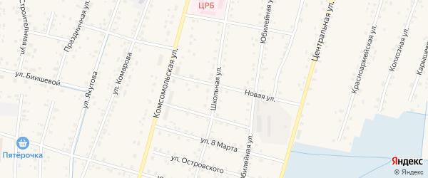 Школьная улица на карте села Старобалтачево с номерами домов