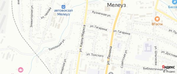 Толстого 2-й переулок на карте Мелеуза с номерами домов