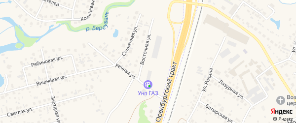 Восточная улица на карте села Зубово с номерами домов