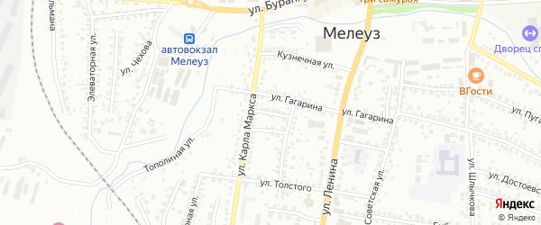 Толстого 3-й переулок на карте Мелеуза с номерами домов