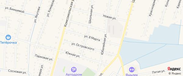 Улица 8 Марта на карте села Старобалтачево с номерами домов