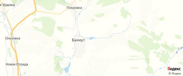 Карта Бахмутского сельсовета республики Башкортостан с районами, улицами и номерами домов