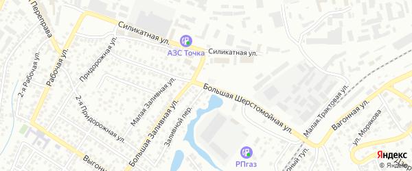 Большая Шерстомойная улица на карте Уфы с номерами домов