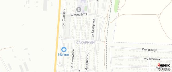 Улица Маяковского на карте деревни Сарлака с номерами домов