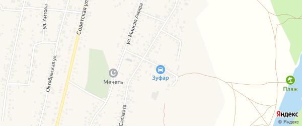 Бельский переулок на карте села Зиргана с номерами домов
