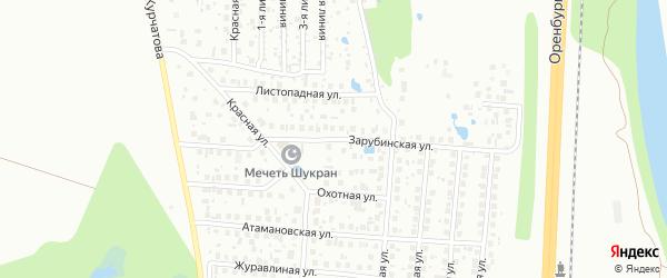 Зарубинская улица на карте Уфы с номерами домов