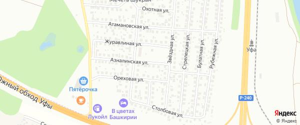 Азналинская улица на карте Уфы с номерами домов