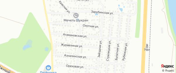 Атамановская улица на карте Уфы с номерами домов