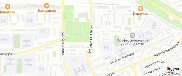 Улица Имая Насыри на карте Стерлитамака с номерами домов