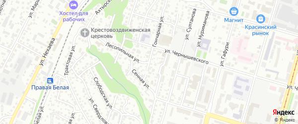 Лесопильная улица на карте Уфы с номерами домов
