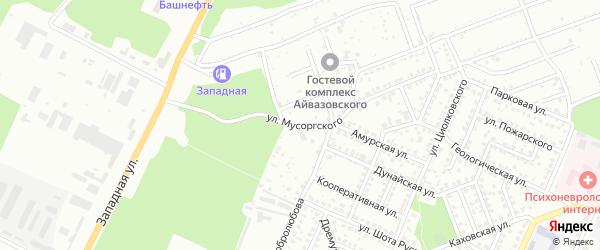 Улица Мусоргского на карте Стерлитамака с номерами домов