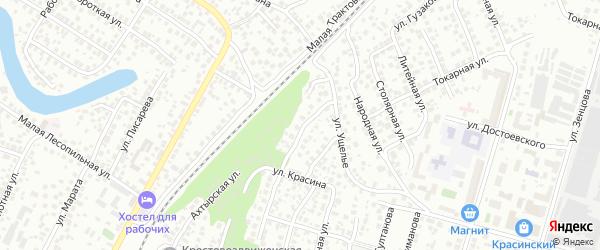 Ахтырская улица на карте Уфы с номерами домов